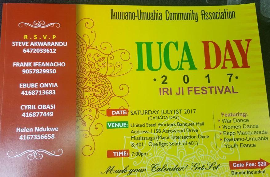 2017 Iriji Festival-Ikwuano umuahia Association Toronto