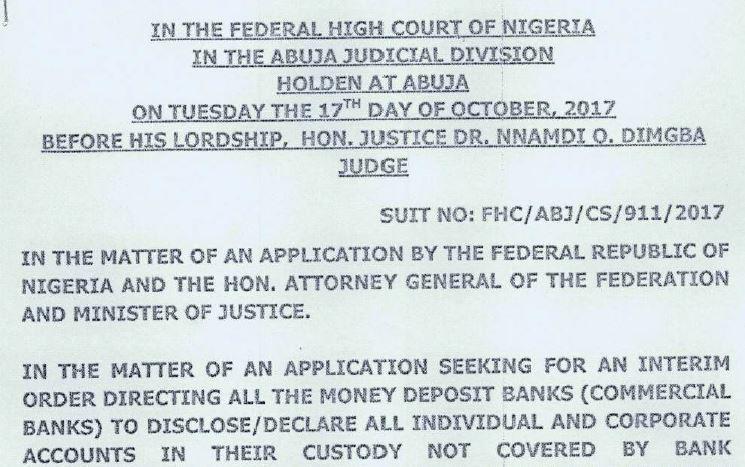 BVN Court order Nigeria