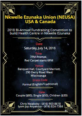 Nkwelle Ezunaka Union USA & Canada bi-annual fundraising convention 🗓 🗺