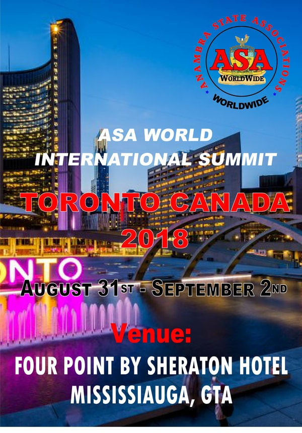 Anambra World-Wide Association (ASA-World) 2018 Toronto 🗓 🗺