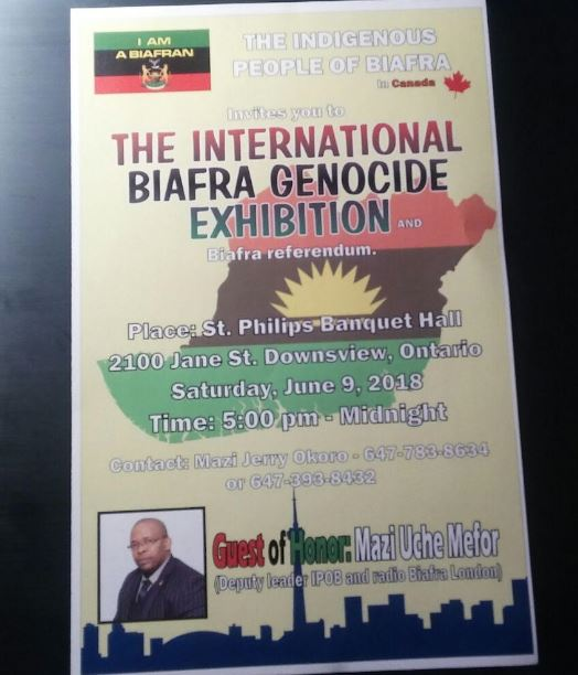 International Biafra Genocide Exhibition Toronto
