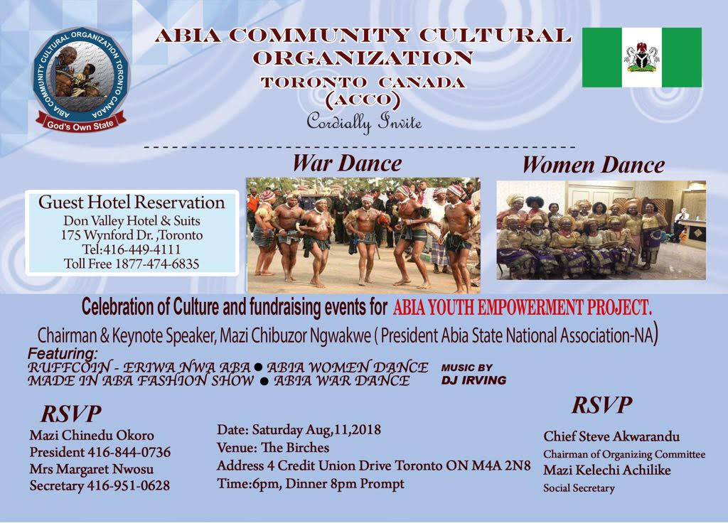 Abia Cultural Organization Fund raising event 2018 🗓 🗺
