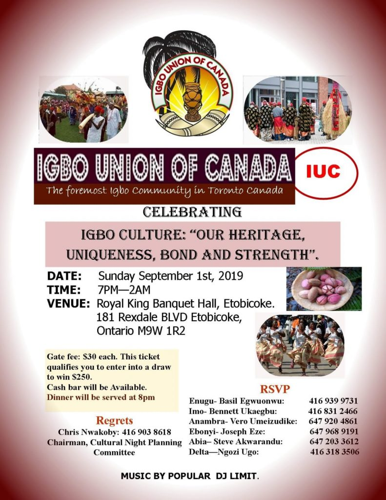 2019 Igbo Cultural Night Canada
